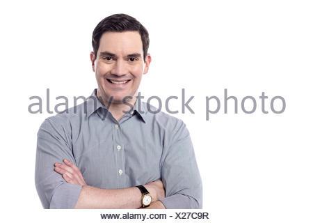 Rire rire rire rire rire twit sourire souriant sourire isolée en souriant en riant la modernité moderne homme Banque D'Images