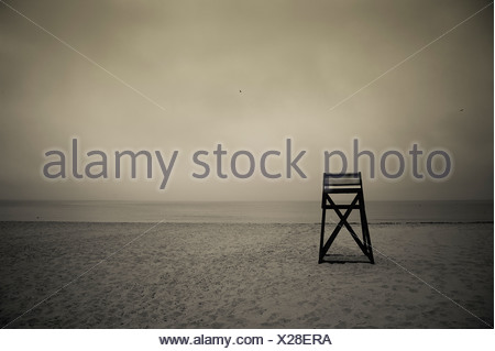 Moody secours on Beach, Cape Cod, MA Banque D'Images