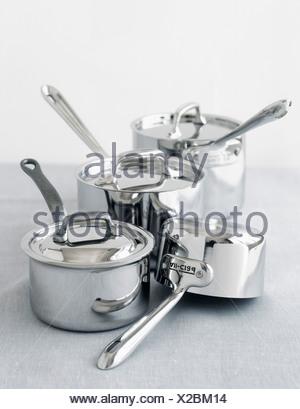 Ensemble de batterie de casseroles Banque D'Images