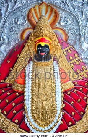 Mahalakxmi déesse, Mumbai, Inde Banque D'Images
