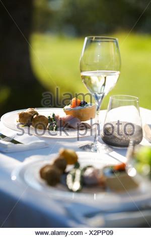 Songe d'une partie, les plaques sur une table, Fejan, archipel de Stockholm, Suède.