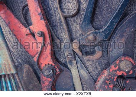 Vieux outils libre - vintage collection outil Banque D'Images