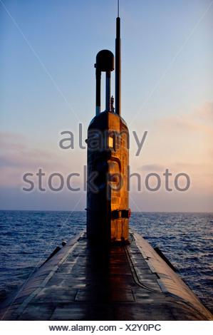 Sous-marin nucléaire HMS Talent, Egypte Banque D'Images
