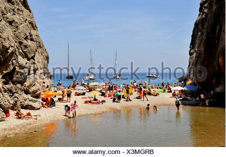 Platja de Torrent de Pareis Plage, Sa Calobra, Majorque, Îles Baléares, Espagne, Europe Banque D'Images