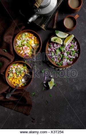 Curry de viande aux lentilles Banque D'Images