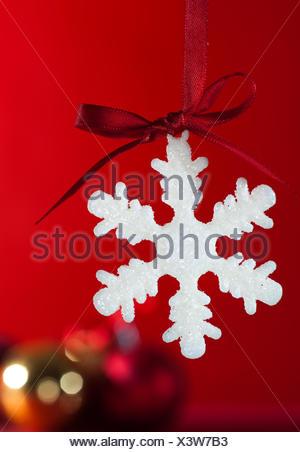 Flocon de neige de Noël Banque D'Images