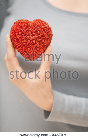 Le coeur dans la main Banque D'Images