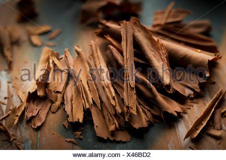 Copeaux de chocolat Banque D'Images