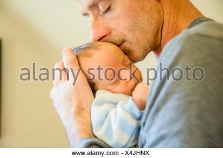 Père Fils avec bébé Banque D'Images