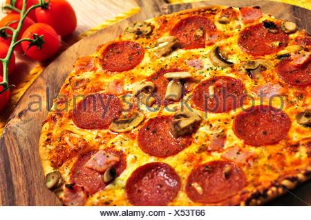 Aliment nourriture pizza Banque D'Images