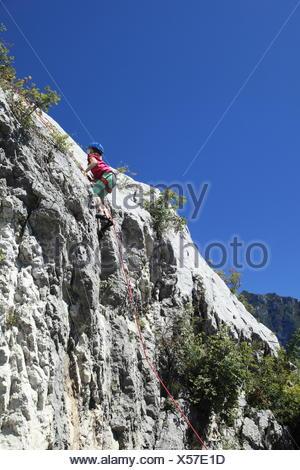 jeune grimpeur Banque D'Images