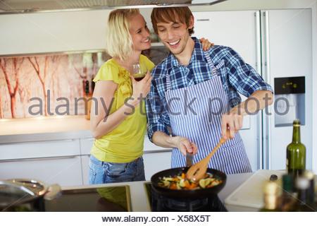 Quelques légumes dans la cuisine Banque D'Images