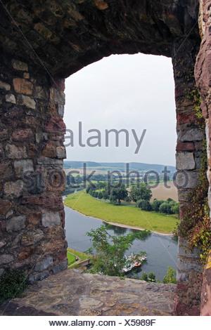 Le château Burg Polle, Polle, Weser, Norvège région, Basse-Saxe, Allemagne, Europe