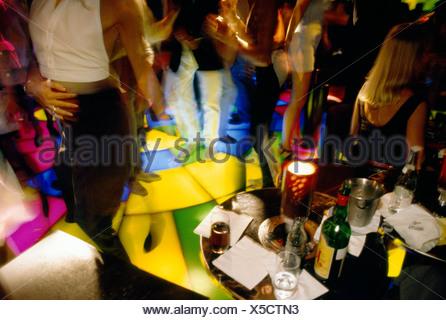 Une discothèque à Monaco. Banque D'Images