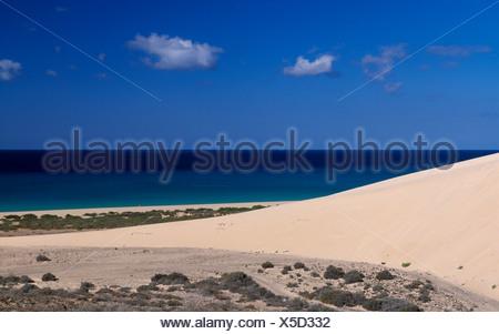 L'île de Fuerteventura Canaries Canaries Espagne Europe hors de Sotavento de jour les dunes de sable des dunes de sable du Banque D'Images