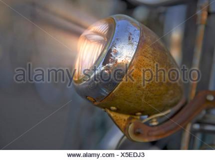 Old rusty bike light