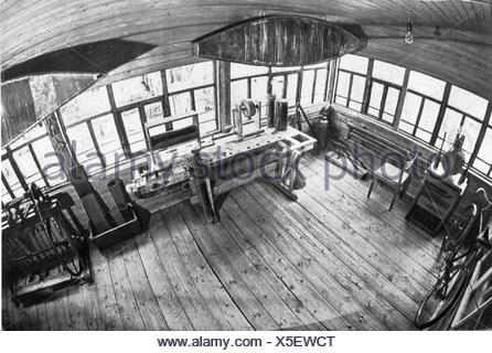 Tsiolkovskii, Konstantin Eduardovich, 17.9.1857 - 19.9.1935, Physicien, mathématicien russe, son atelier, Additional-Rights-Jeux-NA Banque D'Images