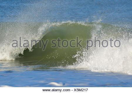 Déferlante, Helgoland, Dune, Mer du Nord, île, Schleswig Holstein, Allemagne Banque D'Images