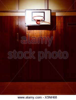 Basket-ball vide Banque D'Images