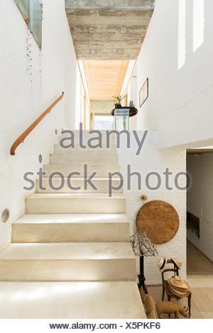 Maison rustique en escalier Banque D'Images