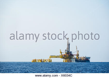 Forage pétrolier et Banque D'Images