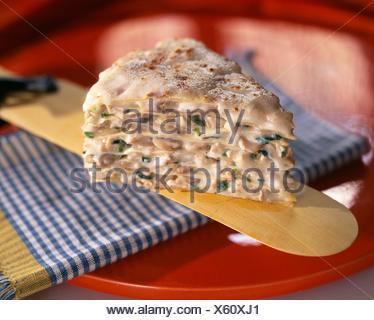 Gâteau de crêpes aux champignons et la Turquie