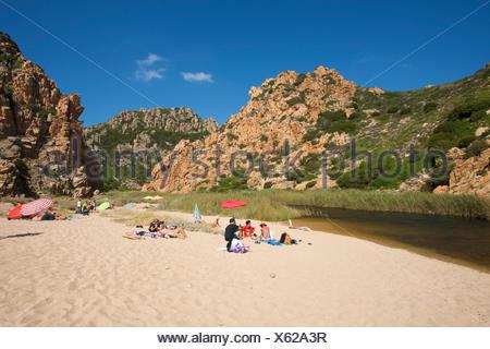 Li Cossi beach, Costa Paradiso, Sardaigne, Italie, Europe Banque D'Images