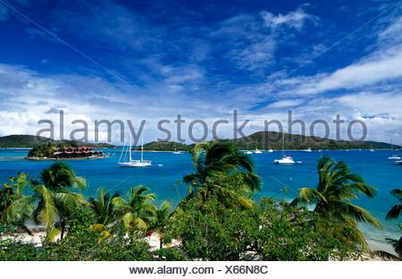Bitter End Yacht Club sur l'île de Virgin Gorda, îles Vierges britanniques, les Caraïbes Banque D'Images