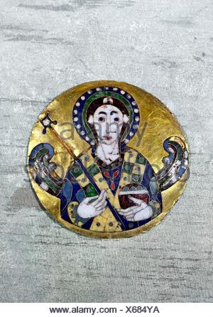 Beaux-arts, art religieux, anges, représentant un médaillon ange, art byzantin, de l'or, 6e /7e siècle, Bayerisches Nationalmuseum, Munich, auteur de l'artiste n'a pas à être effacée Banque D'Images