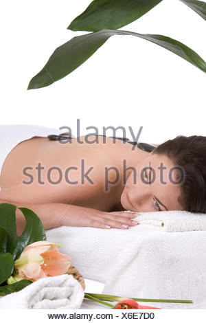 De vous détendre au spa Banque D'Images