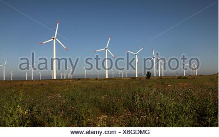 Ferme éolienne à Kap Kaliakra, Bulgarie Banque D'Images