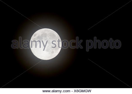 Full Moon at night sky Banque D'Images
