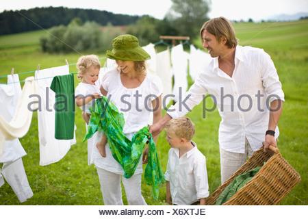 famille Banque D'Images