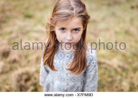 Portrait de petite fille triste Banque D'Images