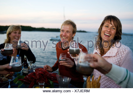Party des écrevisses, Fejan, archipel de Stockholm.