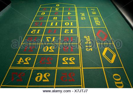 Table de roulette vide Banque D'Images