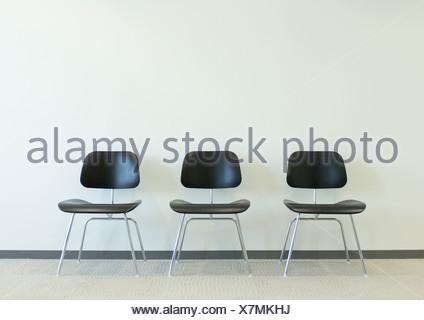 Trois chaises Banque D'Images