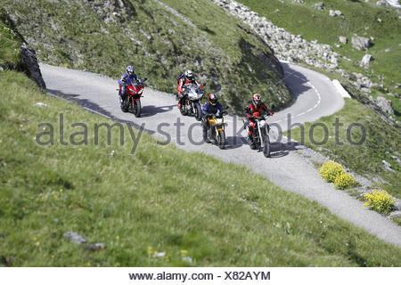Les motocyclettes, 4ème formation Banque D'Images