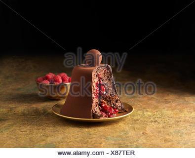 Dessert Mousse au chocolat Banque D'Images