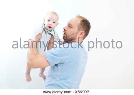 Père avec baby boy Banque D'Images