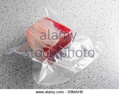 La viande emballée sous vide Banque D'Images