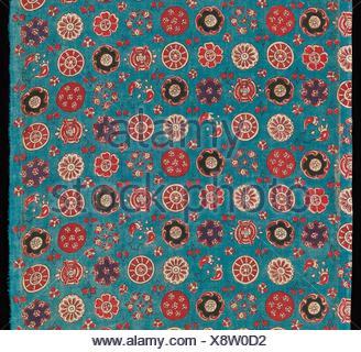 Sarasa avec de petites rosettes. Date: 18e siècle, la culture: l'Inde (côte de Coromandel), pour le marché japonais; moyen: Coton (peint résister et Banque D'Images