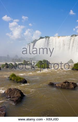 Partie de la chutes d'Iguaçu du côté brésilien Banque D'Images