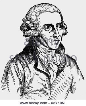 Haydn, Joseph, 31.3.1732 - 31.5.1809, compositeur autrichien, portrait, dessin à l'encre, XXe siècle, Banque D'Images