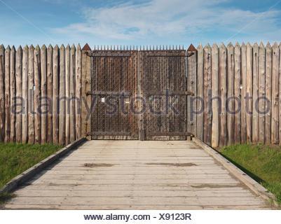 Portes de Fort George, Lieu historique national à Niagara-on-the-Lake, Ontario, Canada Banque D'Images