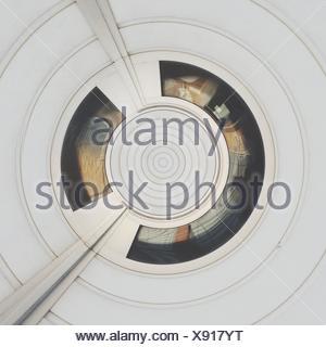 Résumé motif blanc concentriques Banque D'Images