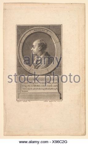Portrait de Gessner. Artiste: Augustin de Saint-Aubin (français, Paris 1736-1807 Paris); Artist: Après le baron Dominique Vivant Denon (Français, Givry Banque D'Images