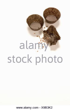 Close up de papiers de bonbons vide Banque D'Images