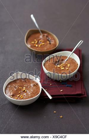 Mousse au chocolat Banque D'Images