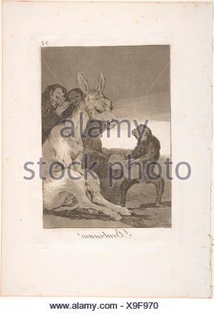 """38 Plaque de """"Los Caprichos"""": Bravo! (Brabisimo!). Series/portefeuille: Los Caprichos. Artist: (Goya Francisco de Goya y Lucientes (Espagnol), Banque D'Images"""